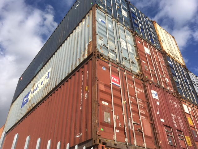 used 40ft high cube container