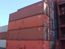 used 40ft dry van container